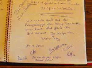 Gästebuch des Rheinsteigs