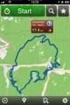 GPSies Strecke auf der Karte