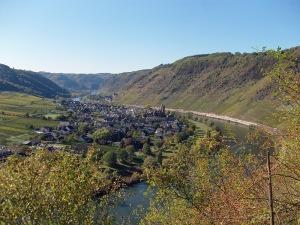Blick vom BREVA Wein & Weg auf Valwig
