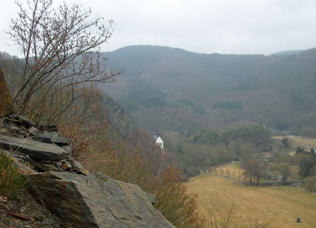 Blick zurück auf die Kapelle