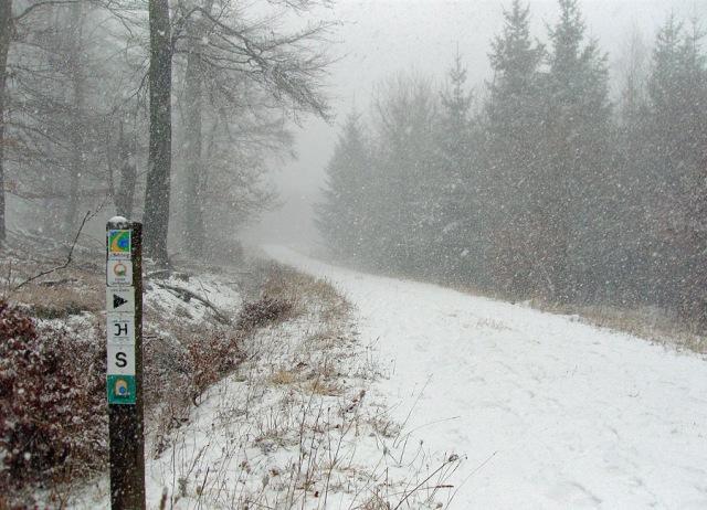 der Schnee wird stärker