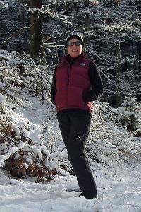 Die Nuptse im Schnee