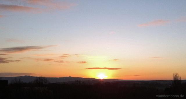 Sonnenaufgang - 10.12.2011 - 8:27 Uhr