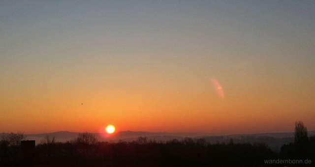 Sonnenaufgang - 04.02.2012 - 8:15 Uhr