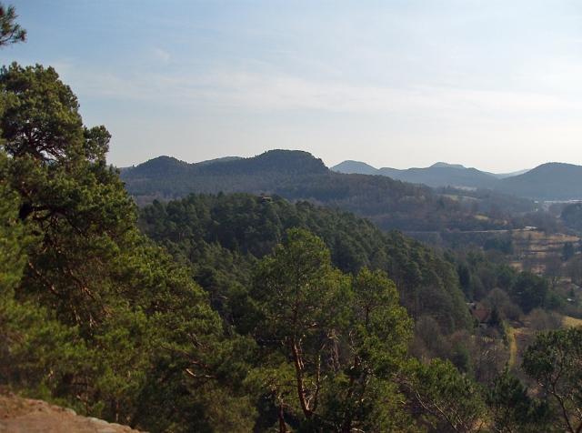 Blick vom Pfaffenfels nach Süden