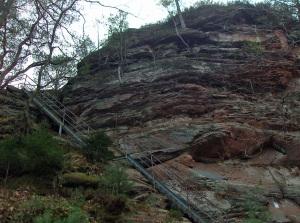 Treppe hinauf zum Wachtfels
