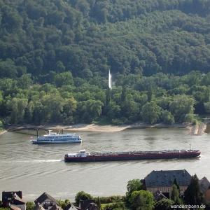 Geysir Andernach vom Rheinsteig aus