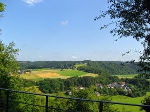 Ausblick von Blankenberg auf Auel