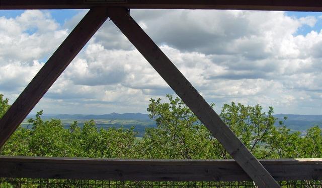 der Aufstieg hat sich gelohnt - Blick vom Aussichtsturm auf dem Steinthalskopf auf das Siebengebirge