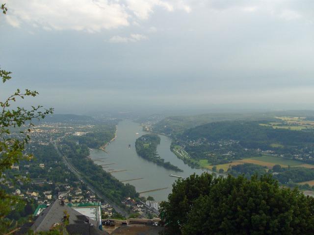 Blick nach Süden - Bad Honnef und Grafenwerth