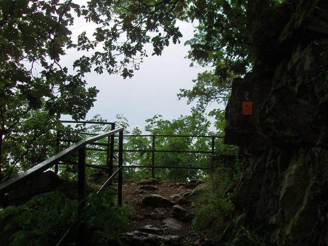 Aussichtspunkt auf dem Pfad hinab nach Rhöndorf