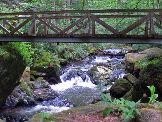 Wir haben Glück und können über die Brücke queren