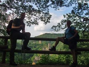 Am Ende der Tour mit den Manderscheider Burgen