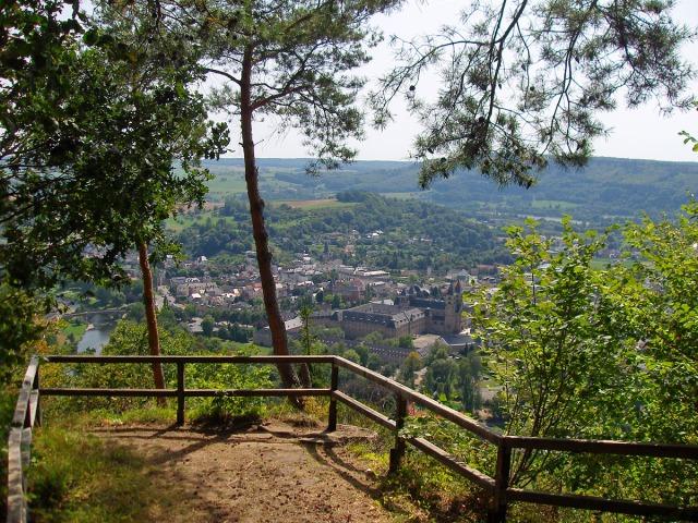 Blick vom Ferschweiler Plateau auf Echternach