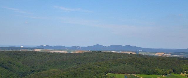 das Siebengebirge vom Krausbergturm aus