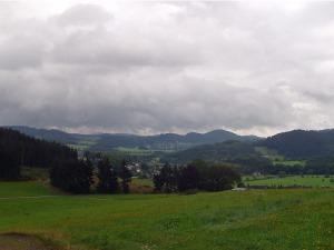 weite Sicht mit tollen Wolken