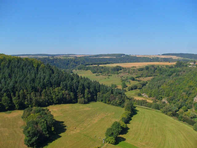 Blick vom Gabelstein auf offene Landschaft