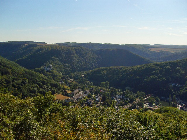 Vom Goethepunkt der Blick auf Obernhof
