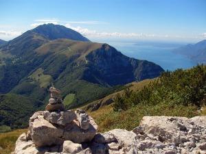 Blick auf das Monte Baldo Massiv