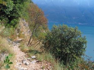 schmale Pfade hinab nach Campione