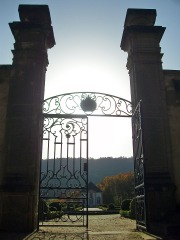 das Tor zum Schlosspark