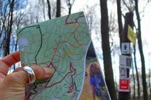 Wanderkarte zur Orientierung