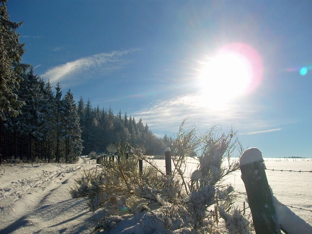 Schnee & Sonne satt