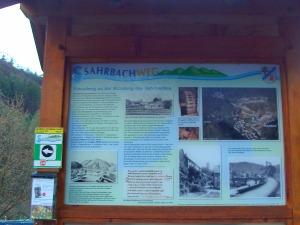 Sahrbachweg Infotafel
