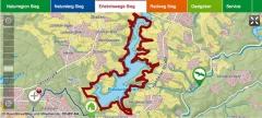 Erlebniswege Sieg - interaktive Karte