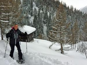 Das erste Mal auf Schneeschuhen