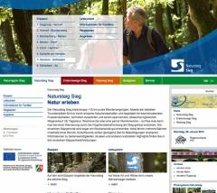 Natursteig Sieg - neue Webseite