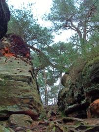 Pfad zwischen den Felsen