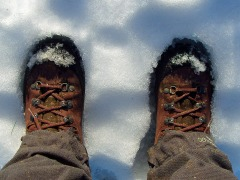 warm im Schnee
