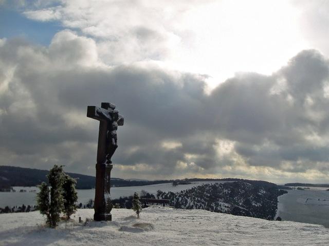 Sonne-Wolken-Mix auf dem Kalvarienberg
