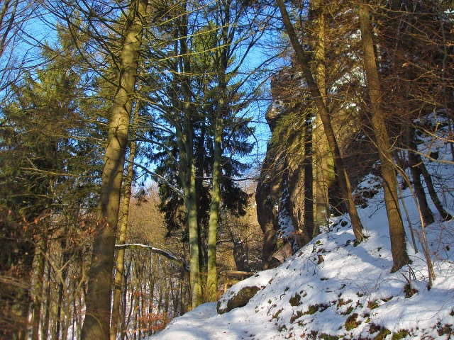 der Pfad zur Buchenlochhöhle