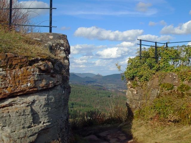 Blick auf Trifels