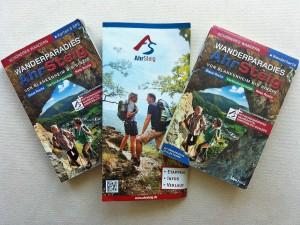 Wanderbuch, Flyer und Karte