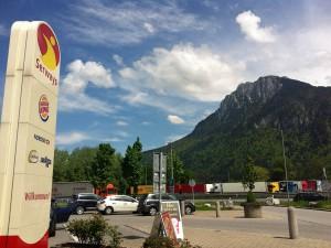 Die Alpen in Sichtweite