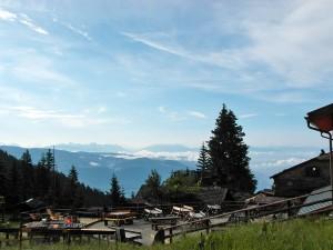 Die Dolomiten in Sichtweite