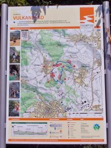 Kartenübersicht an der Infotafel