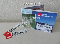 Nr. 1 - Gutschein 25,00 EUR