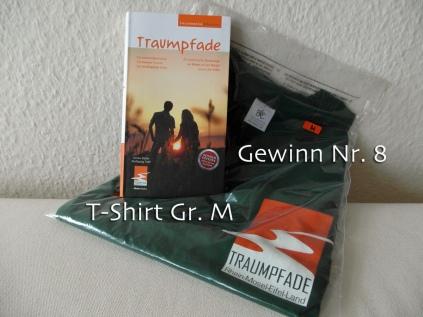 Nr 8 - Traumpfade-Star-Shirt (Gr.M) und Wanderbuch