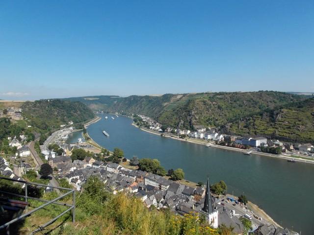 Blick auf St. Goar und St. Goarshausen