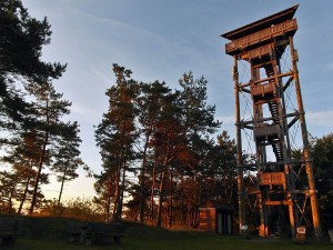 Booser Eifelturm in der Morgenröte