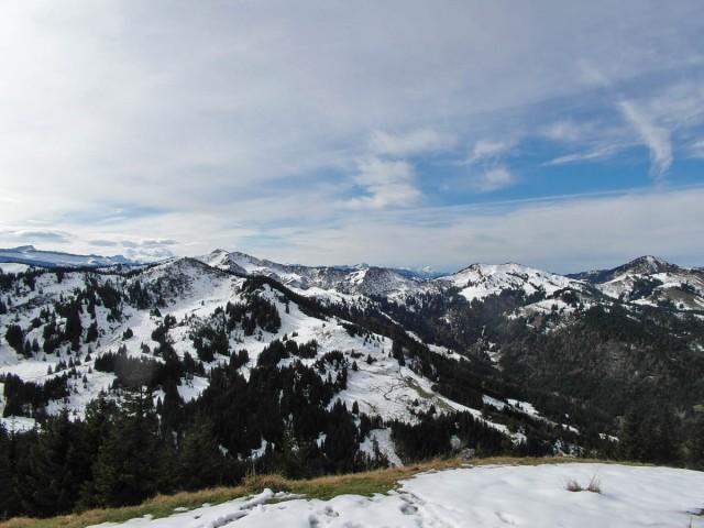 Blick auf Ifen, Schweiz und RIchtung Bodensee