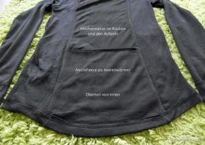 Nierenwärmer und Mesh-Rücken von innen