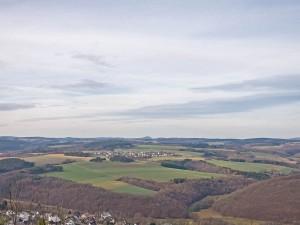 Blick in Richtung Nürburg und Ring-Racer