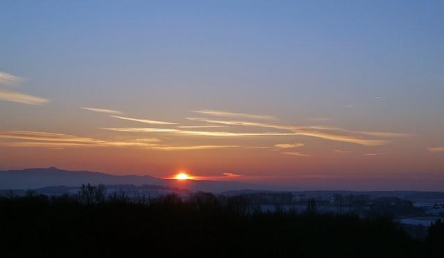 Sonnenaufgang im Dezember 2012