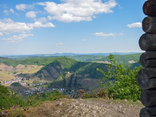 Blick vom Schrock bis zum Siebengebirge