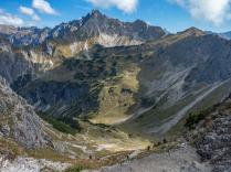 Blick hinab - rechts das Nebelhorn